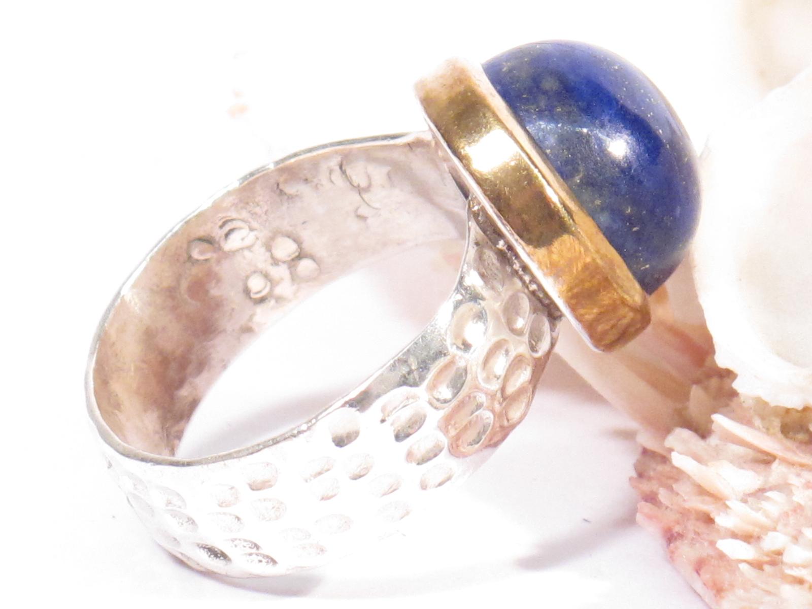 anello in argento e lapislazzuli-gioielli etnici-atlantide
