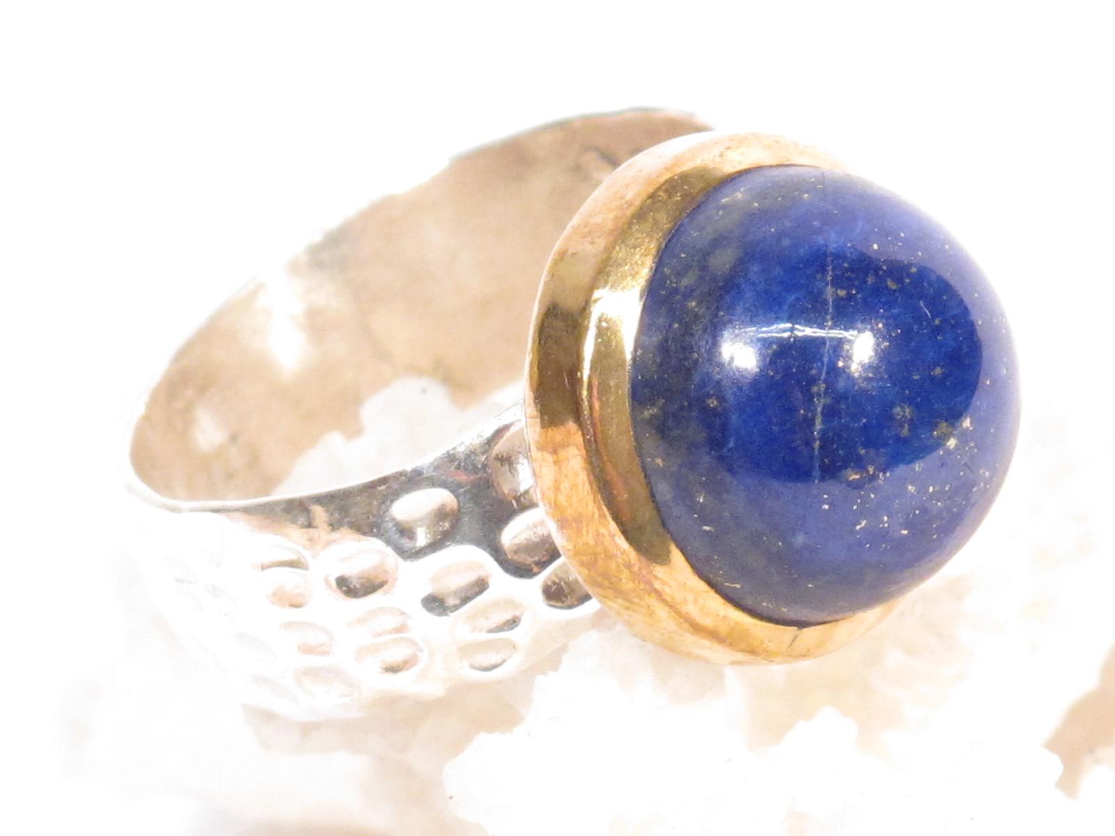 anello Nepalese in argento e lapislazzuli-gioielli etnici-atlantide