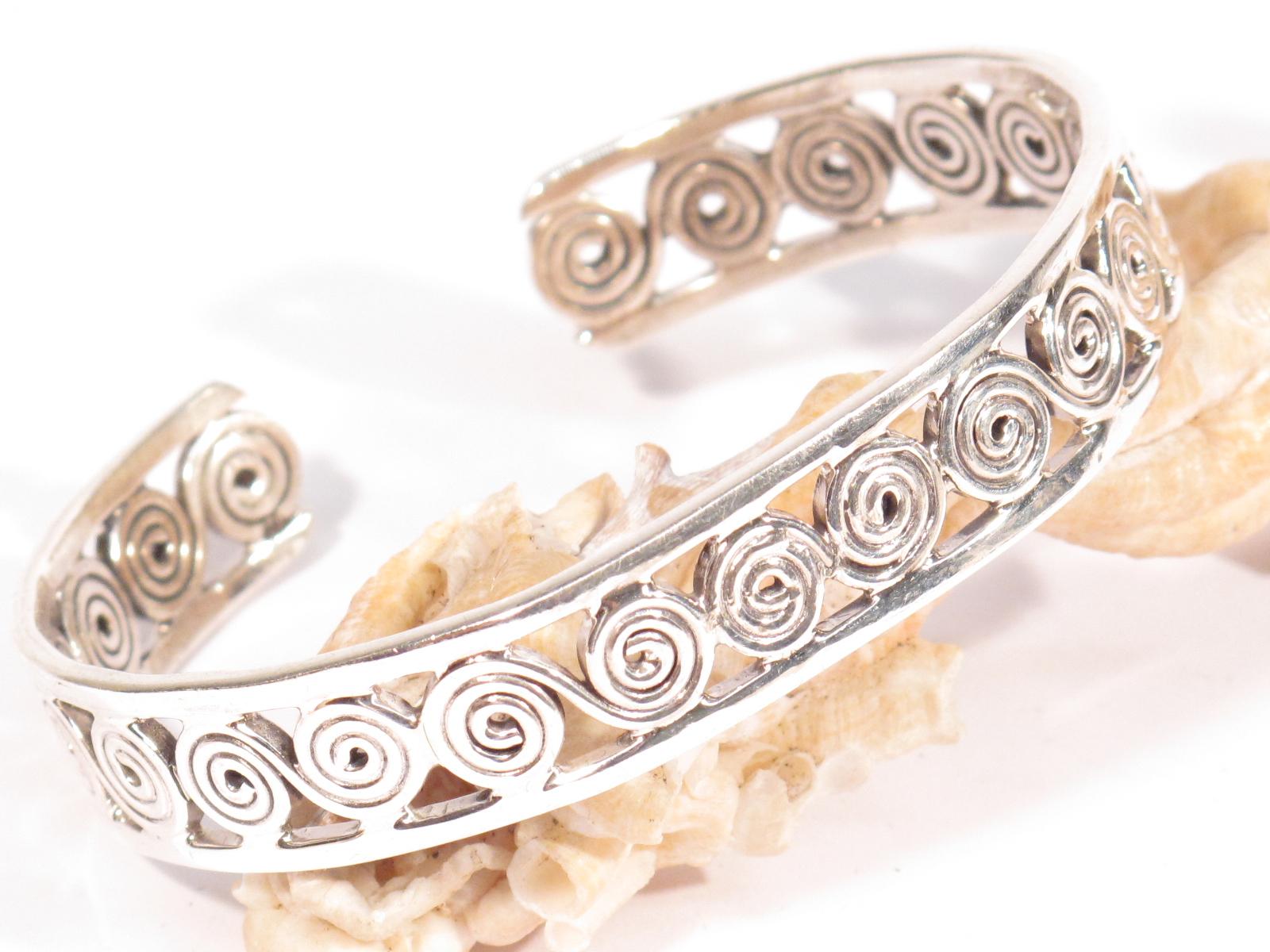 bracciale berbero a spirali in argento