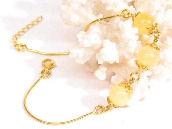 bracciale argento dorato e ambra