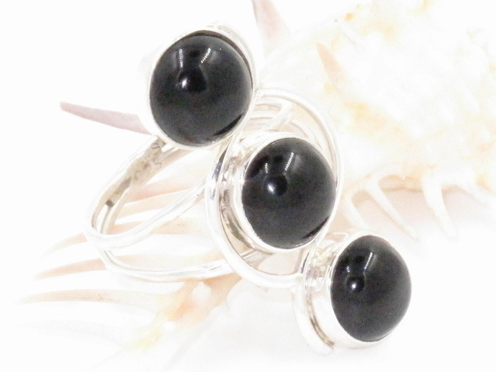 anello in argento e onice