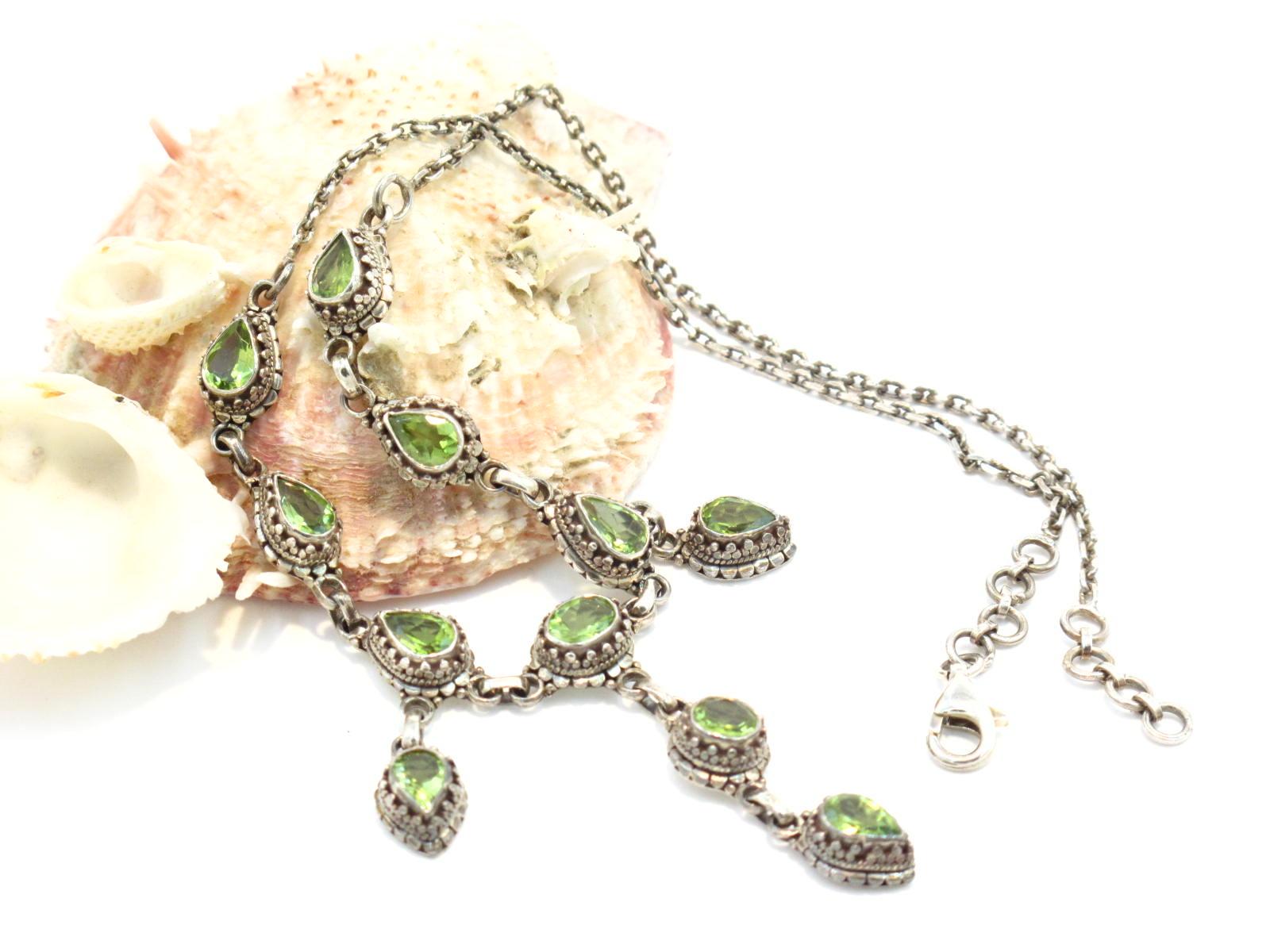 collana in argento e peridoto