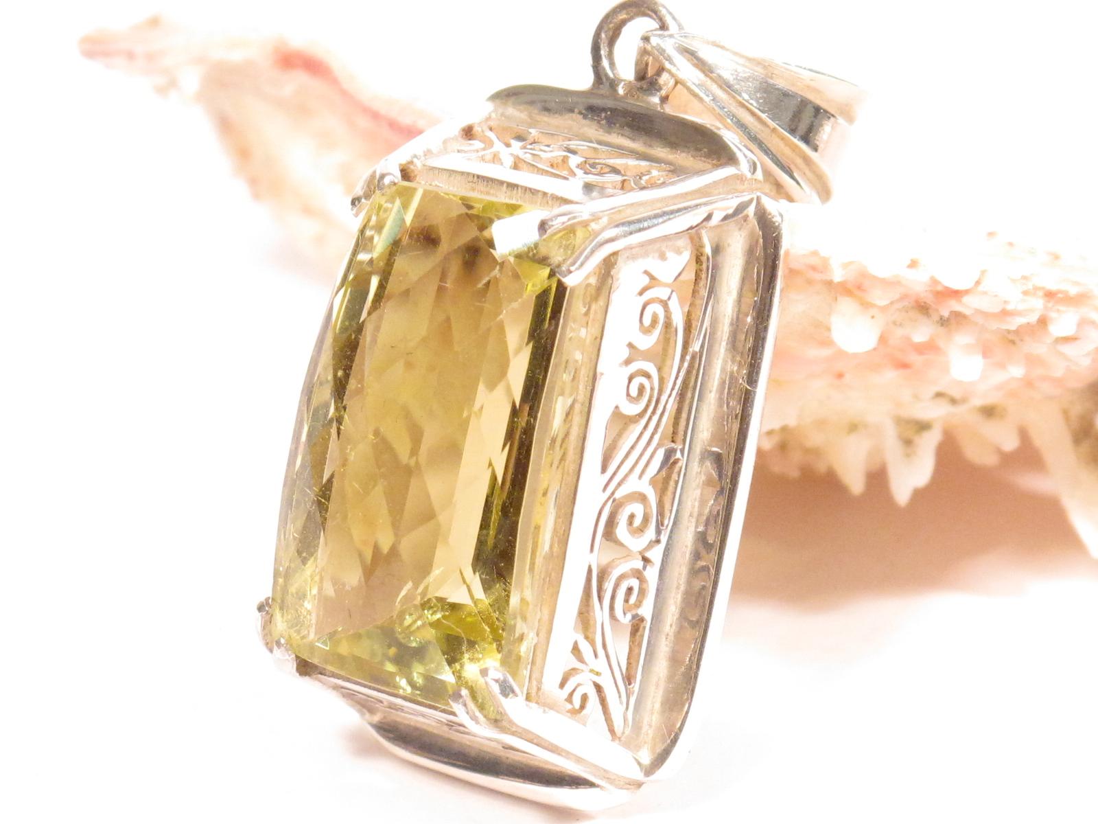 pendente in argento e quarzo citrino