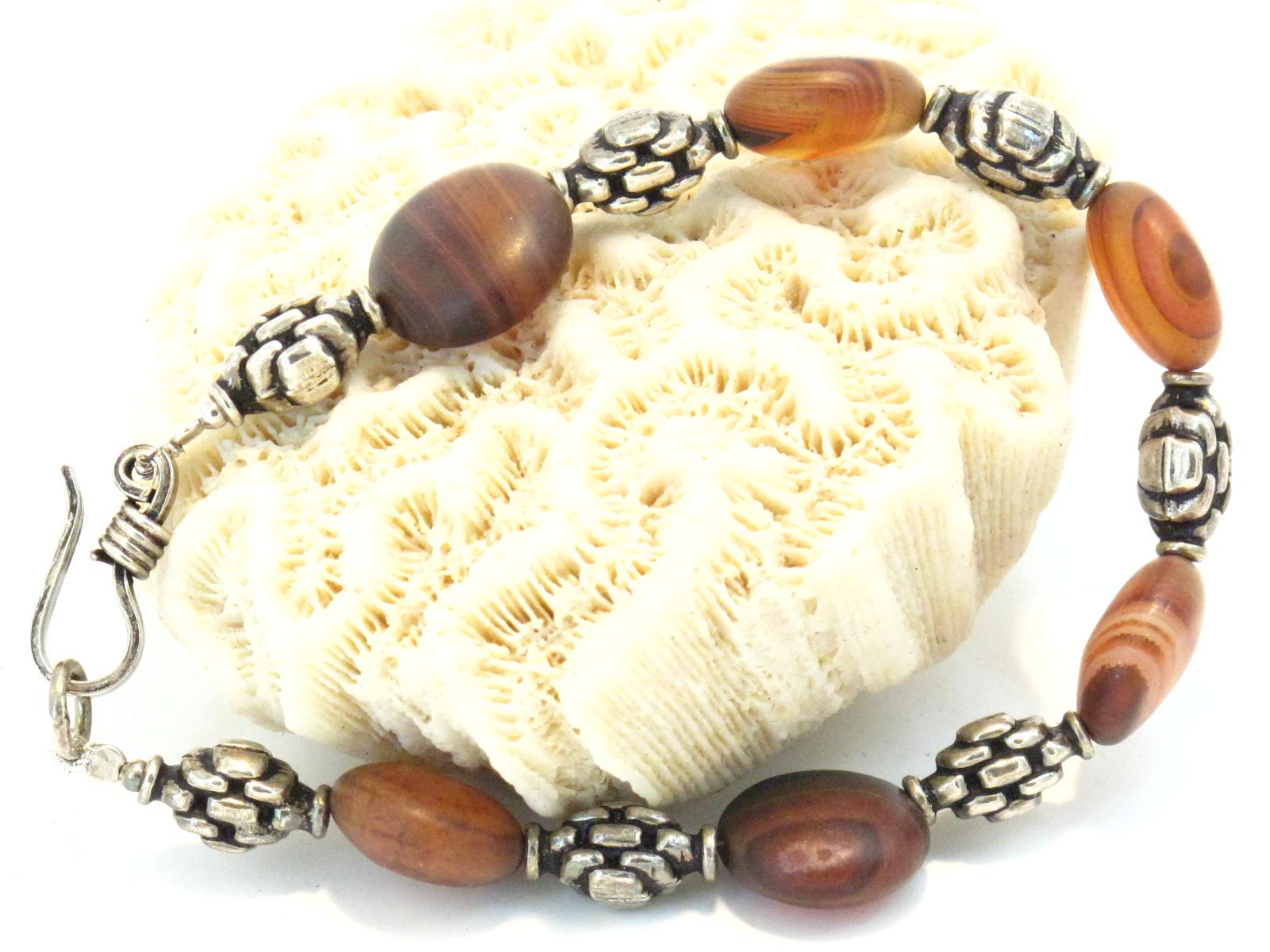 bracciale iraniano in argento e agata