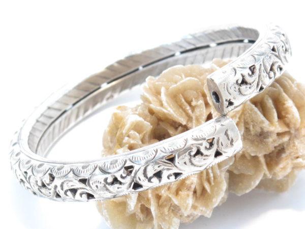 bracciale etnico iraniano in argento