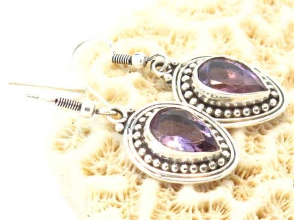 orecchini in argento e ametista