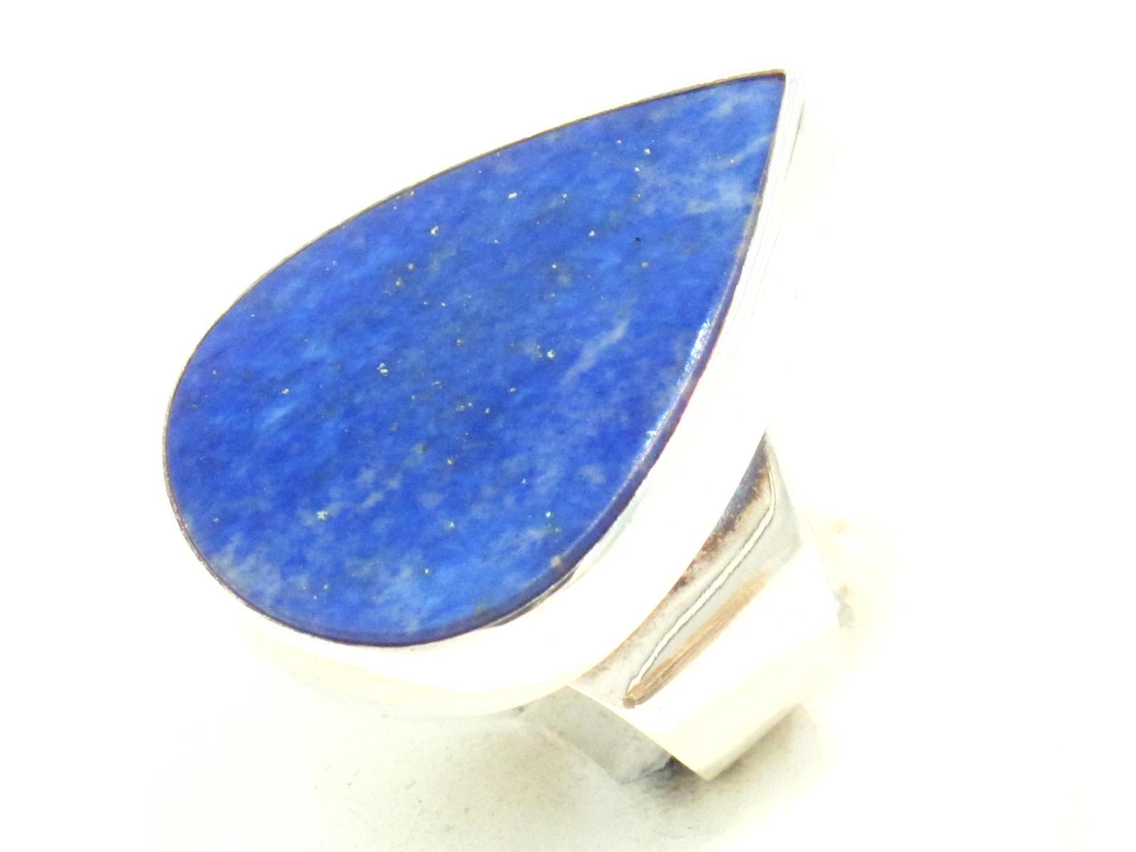 anello nepalese in argento e lapislazzuli