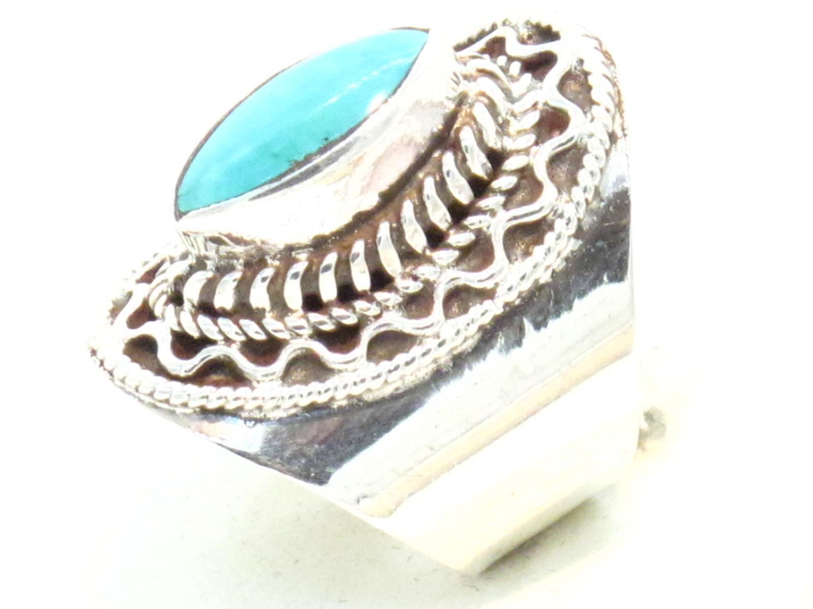 anello in argento e turchese