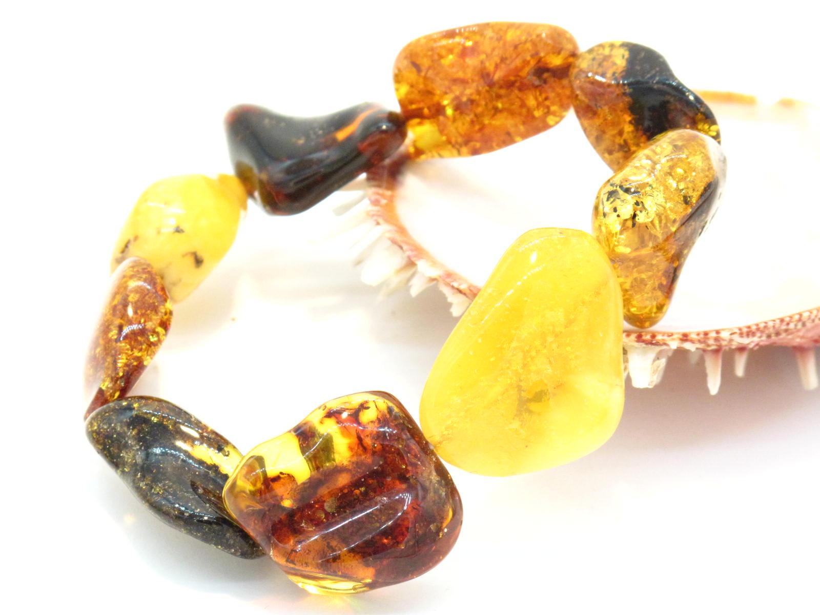 bracciale a sassi in ambra
