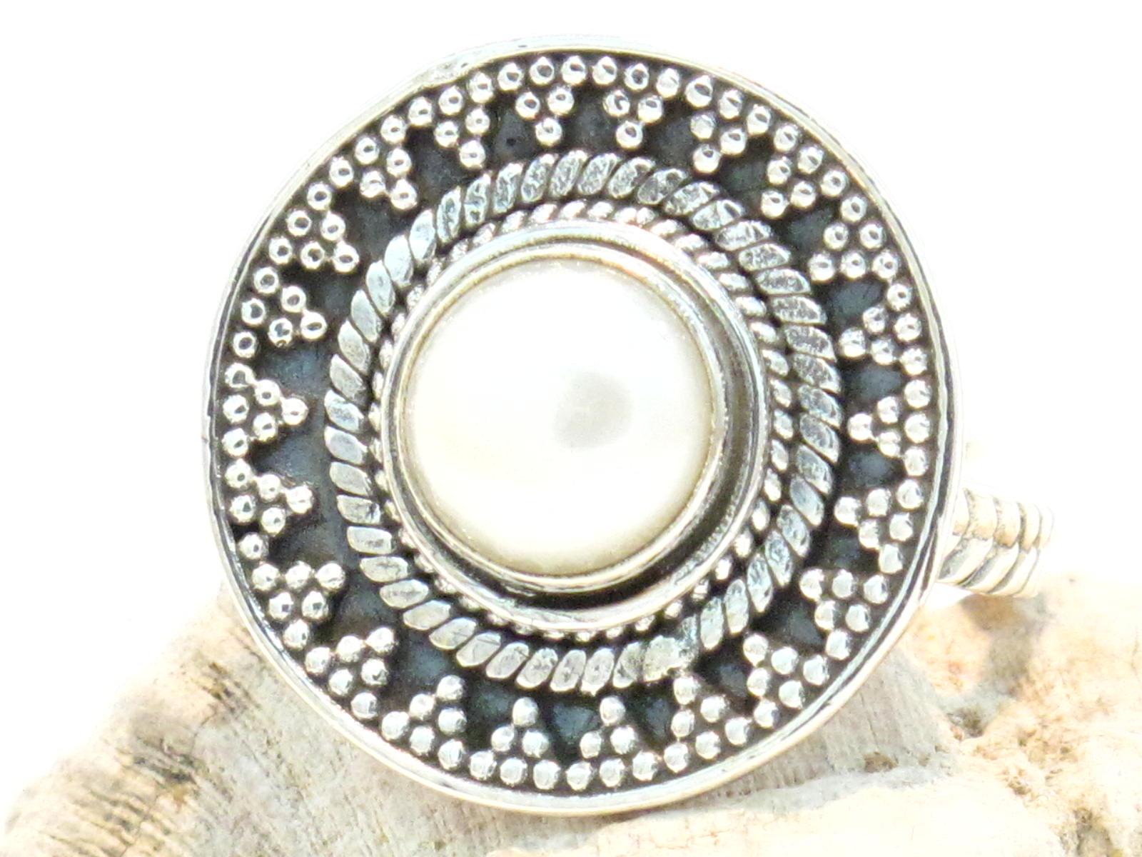 anello argento e perla di fiume