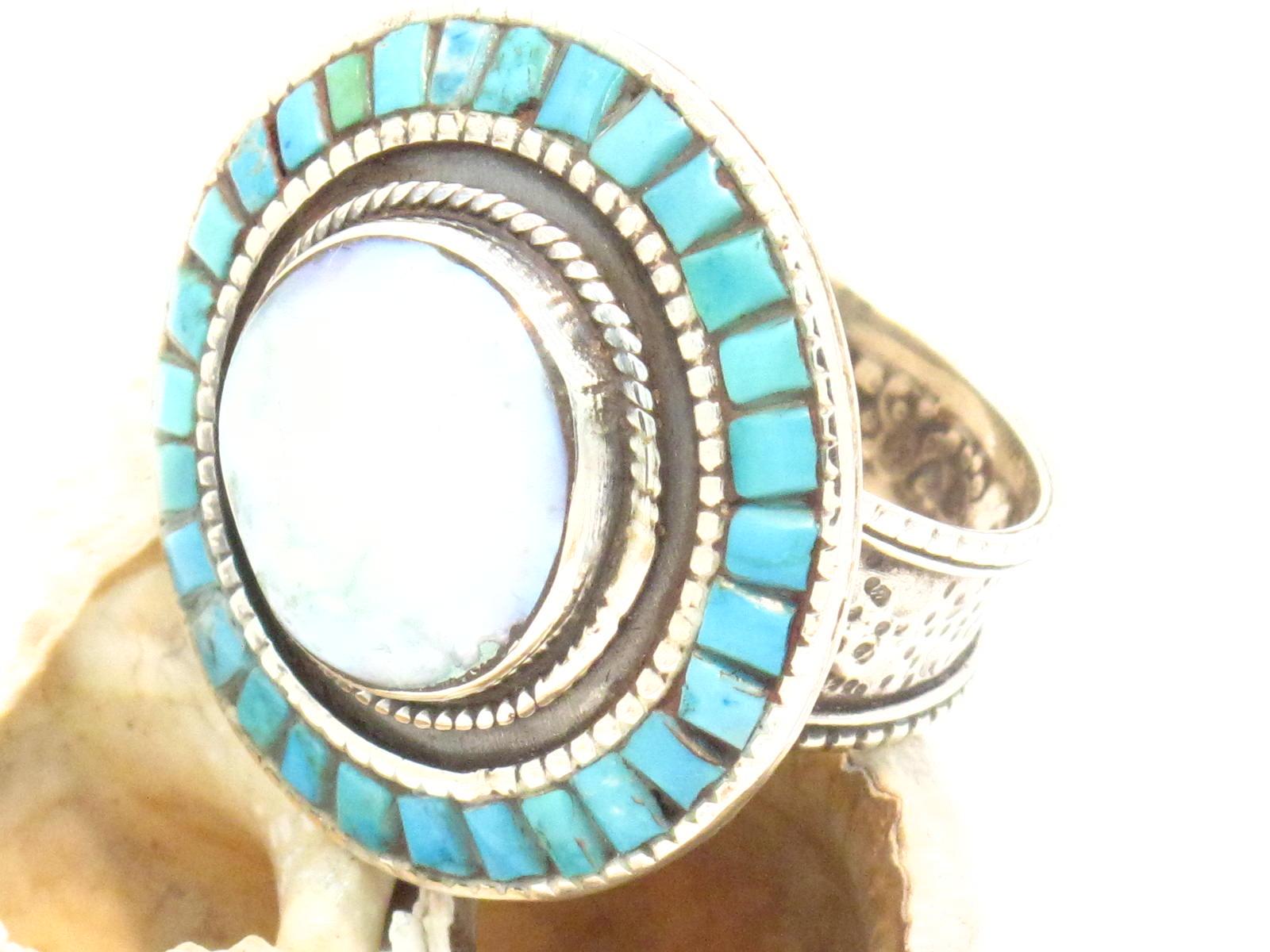 anello madreperla e turchese