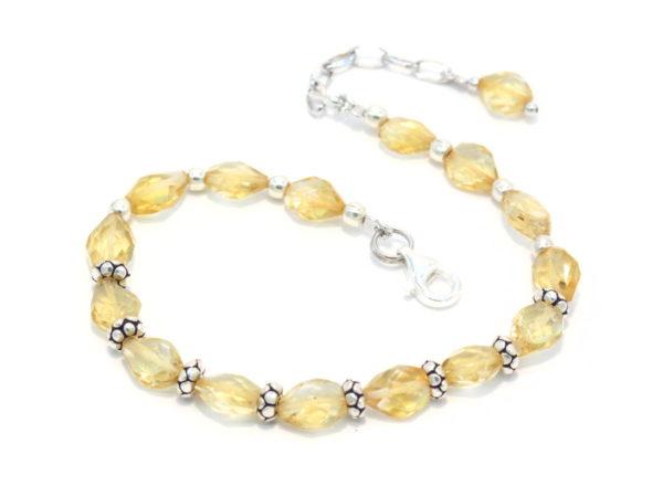 bracciale in argento e quarzo citrino