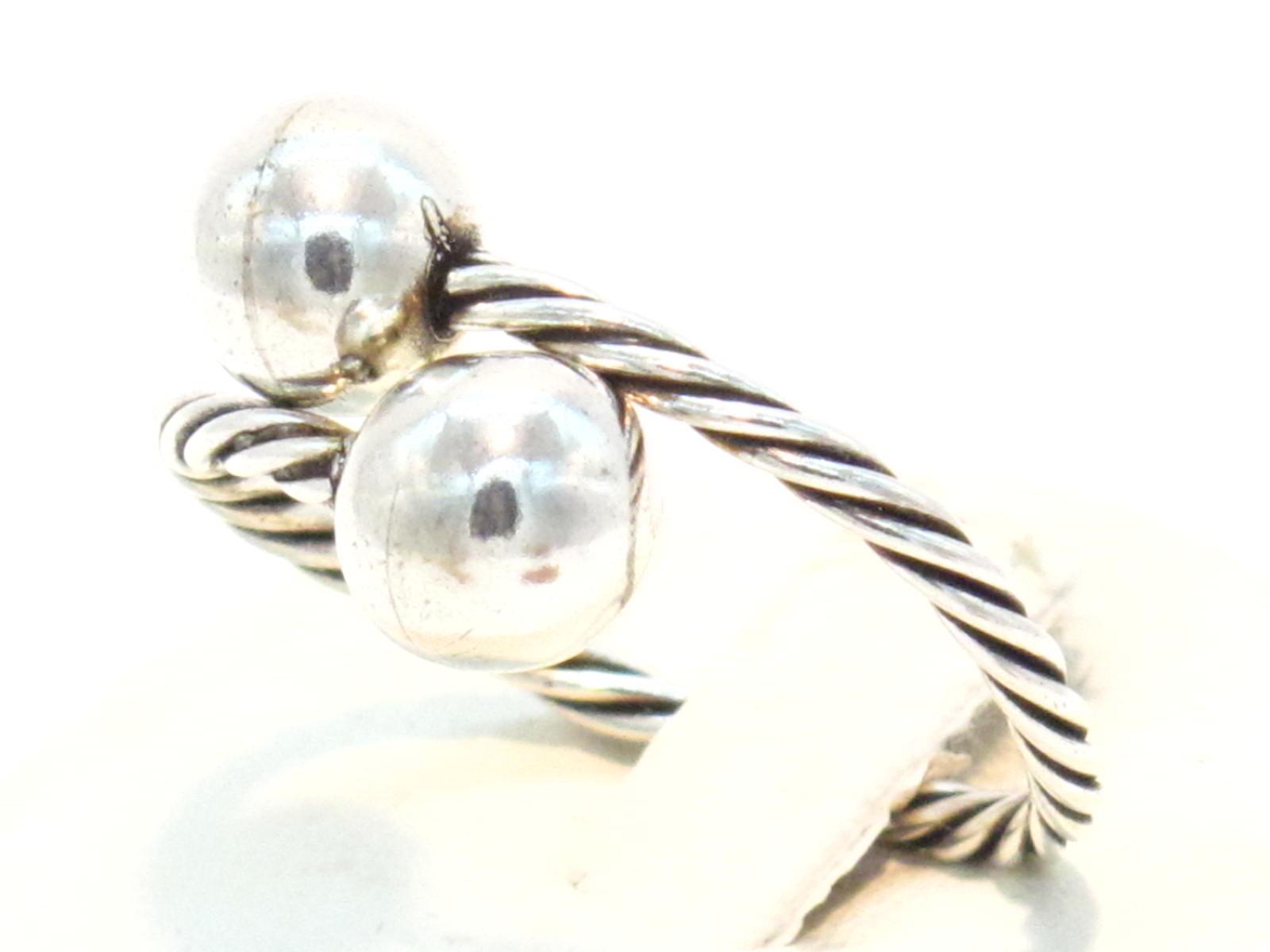 anello contrarie sfere argento