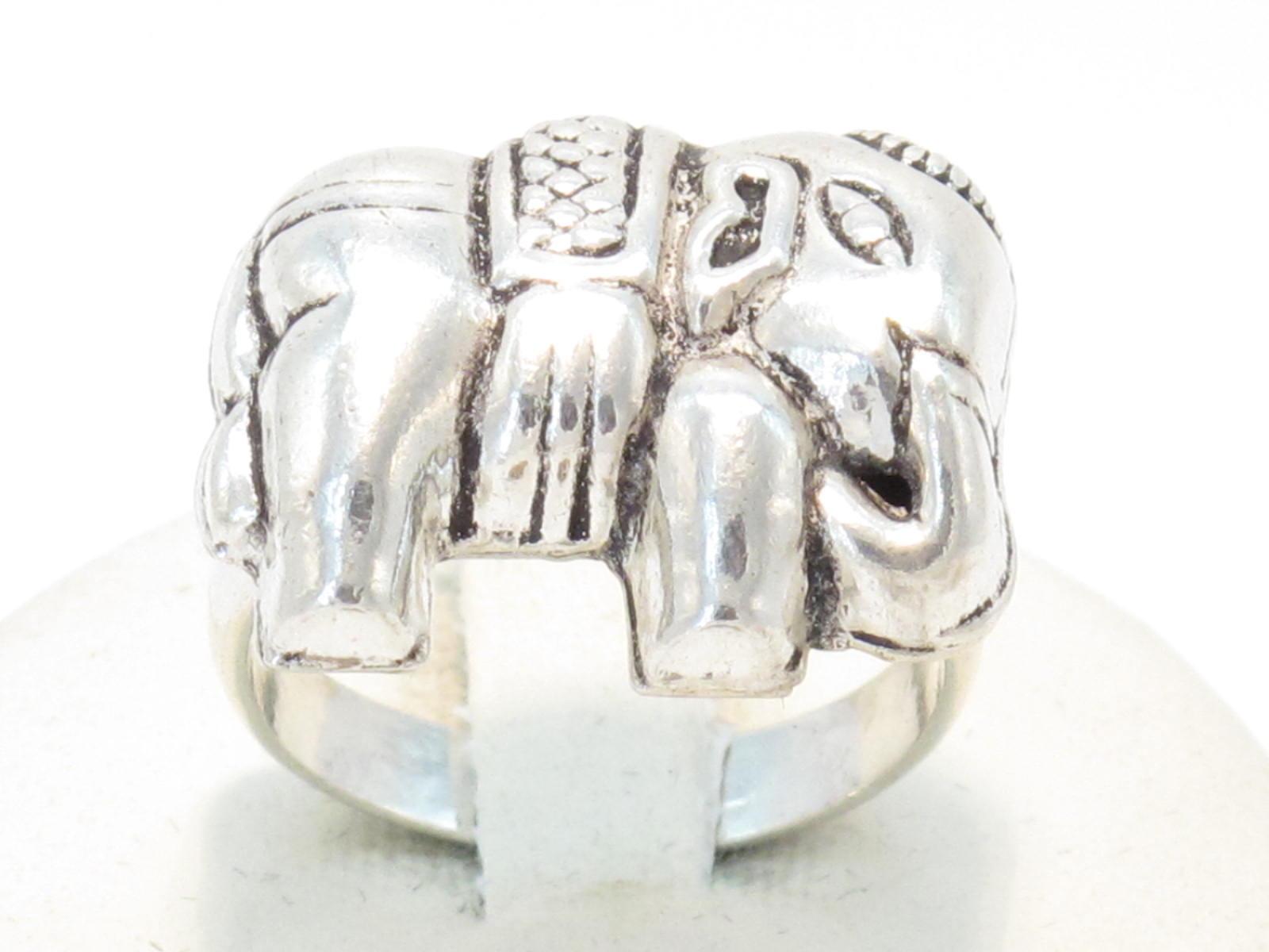 anello etnico elefante argento