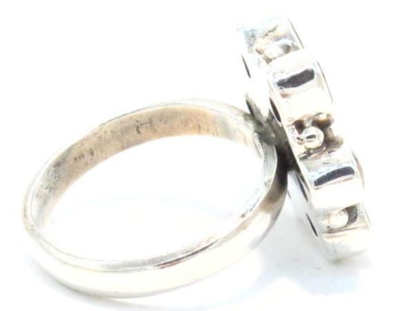 anello in argento e pietre multicolore