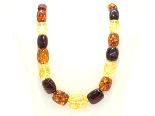 collana ambre regolari e multicolor