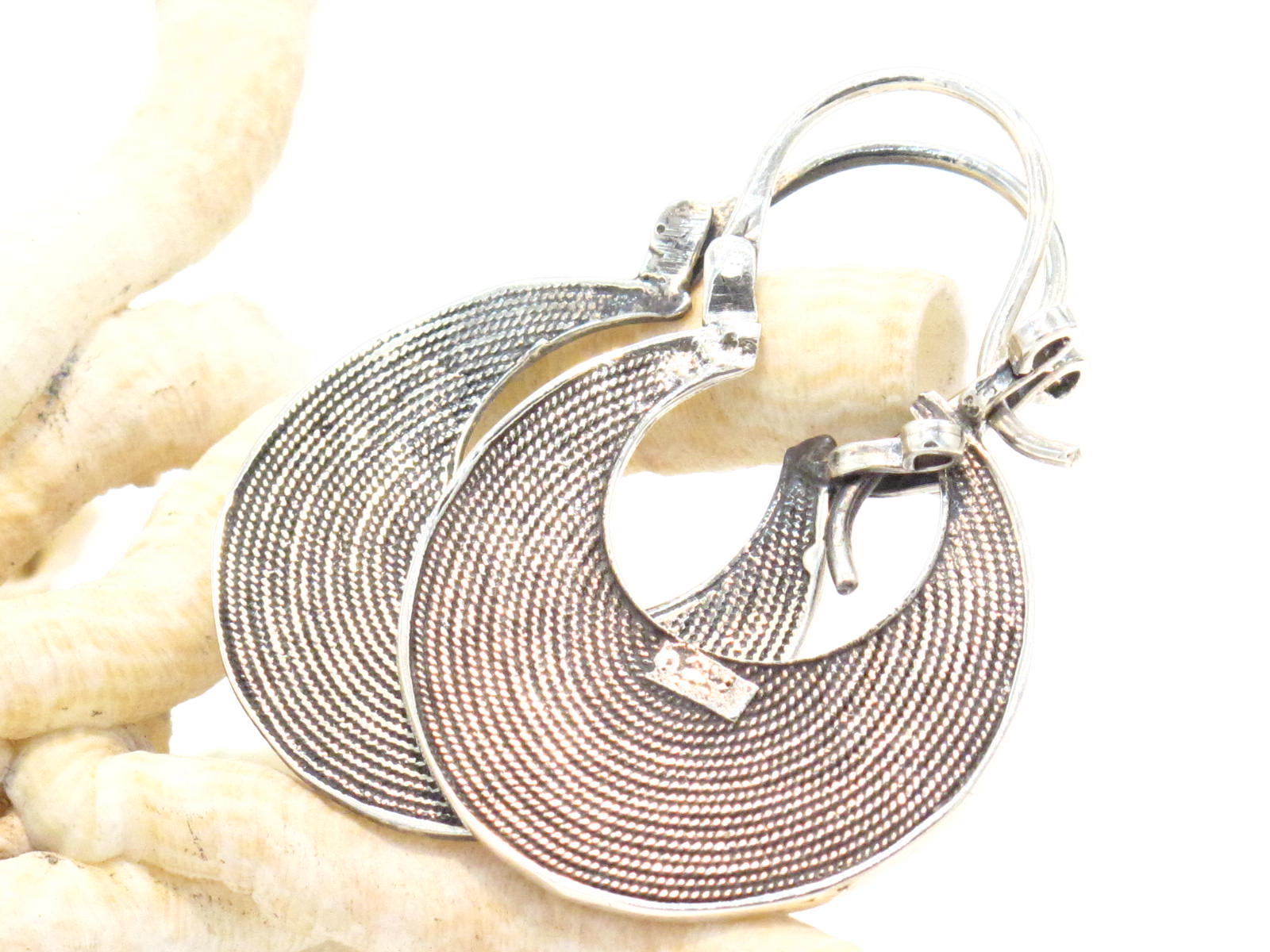 orecchini mezzaluna argento marocco