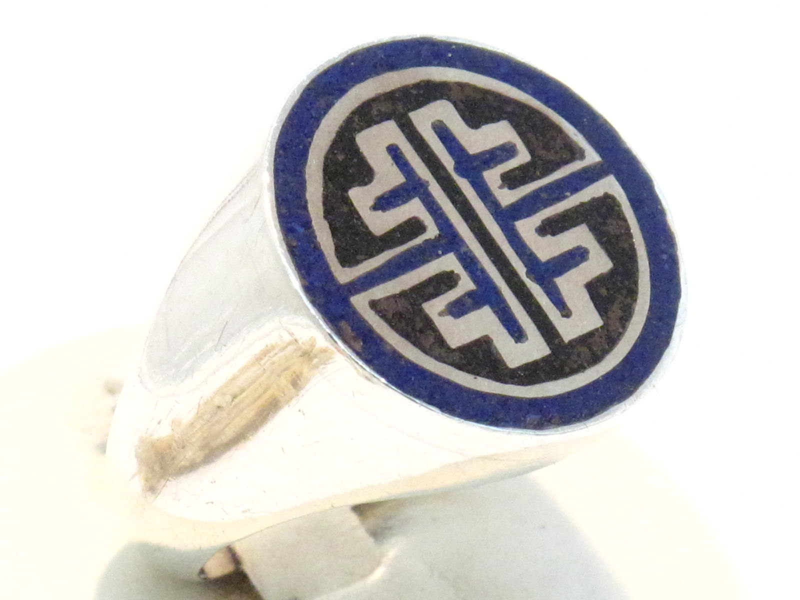 anello nepalese onice e lapislazzuli