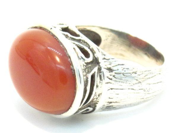 anello argento e corniola