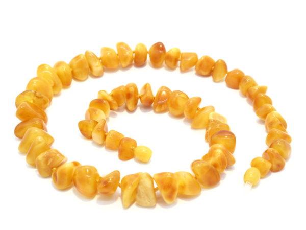 collana ambra gialla opaca
