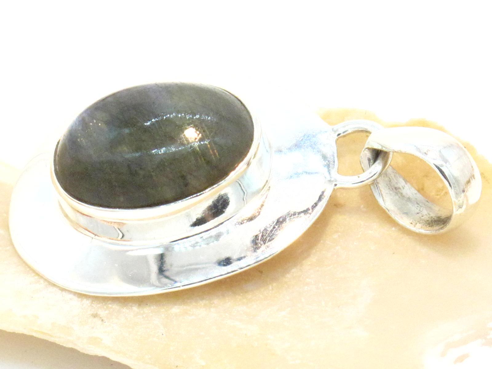 pendente argento labradorite