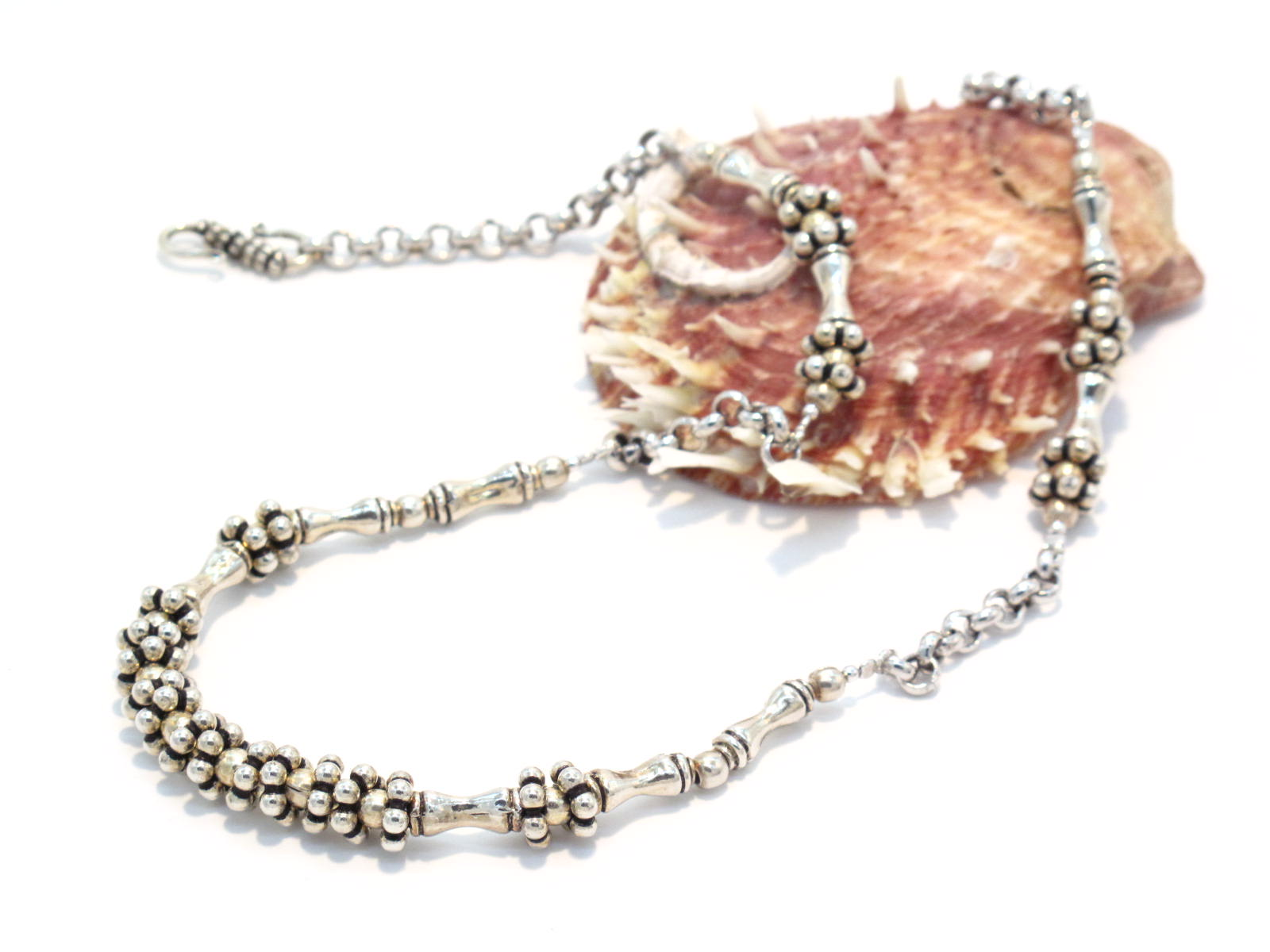 collana indiana in argento