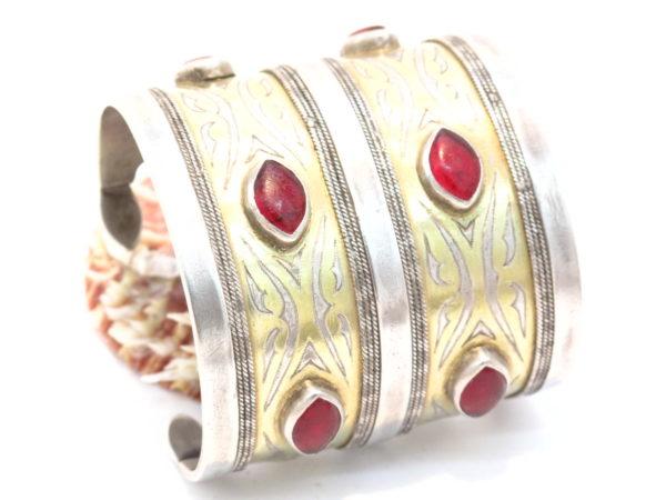 bracciale Turkmeno argento dorato a caldo e paste vitree