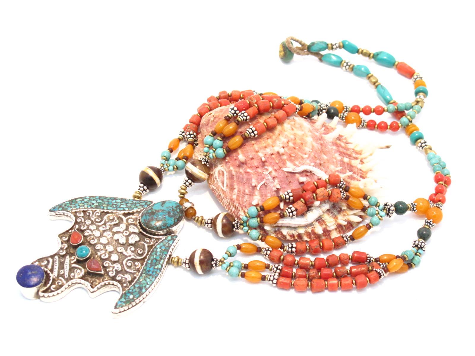 collana tibetana a più fili