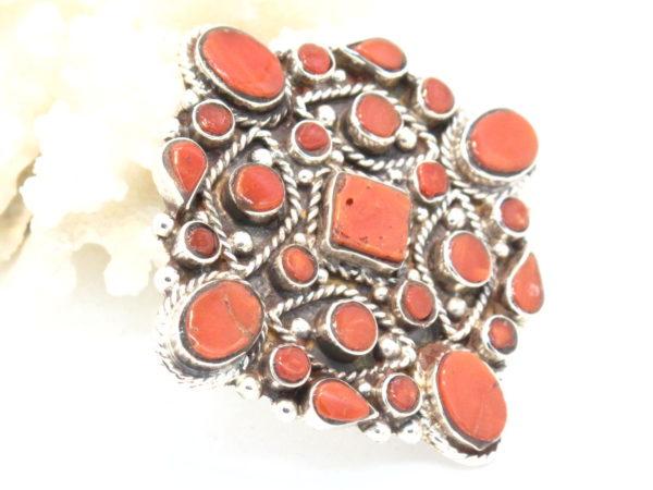 pendente in argento e corallo