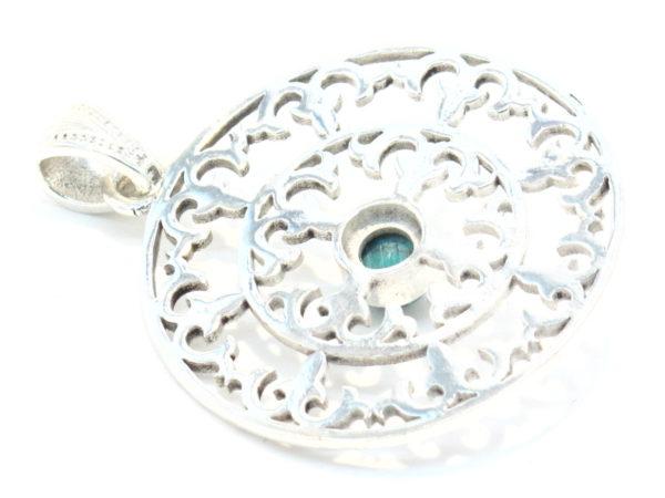 pendente argento e turchese