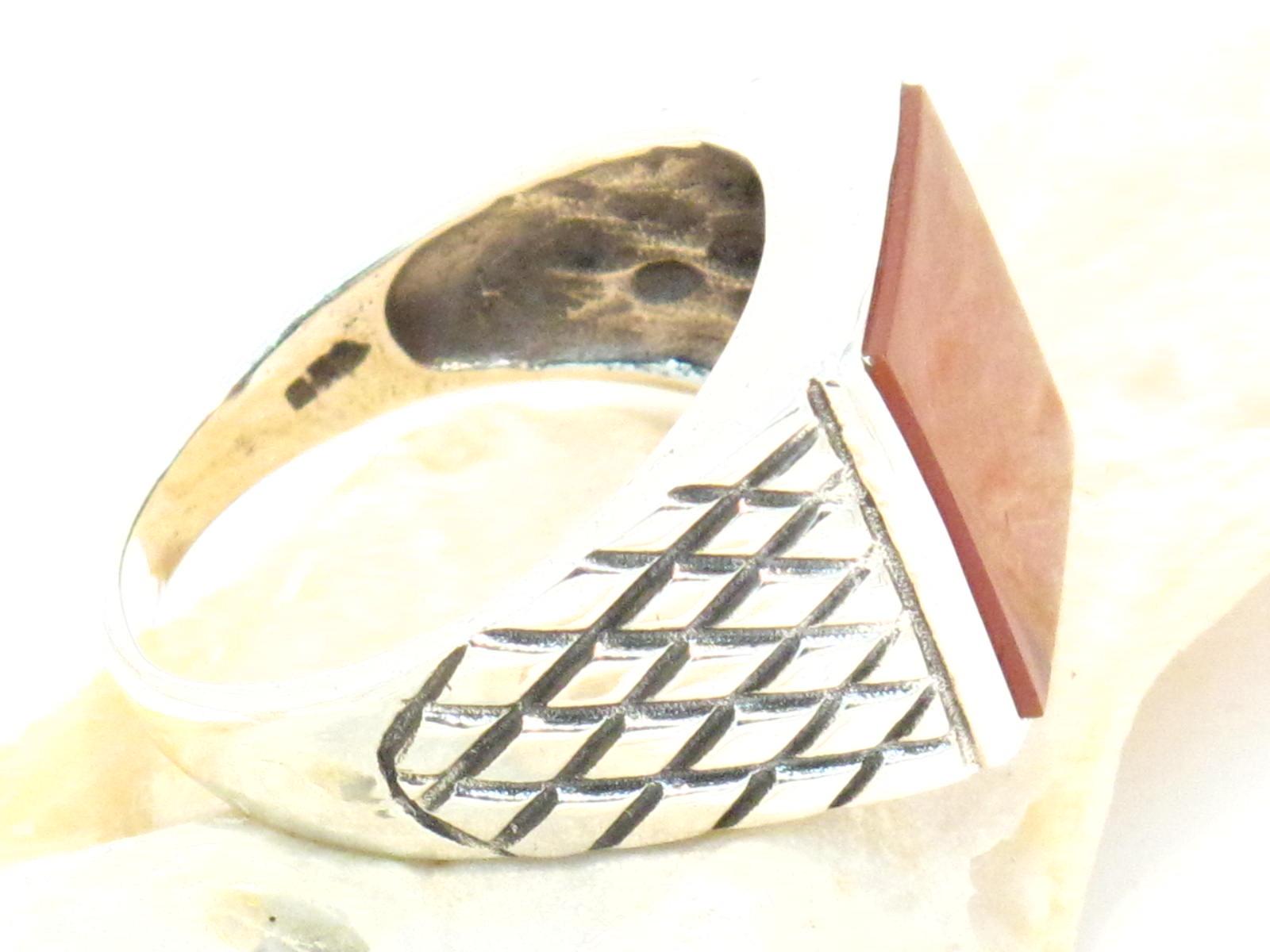anello in argento e corniola