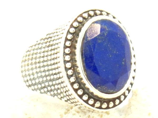 anello in argento e lapislazzuli