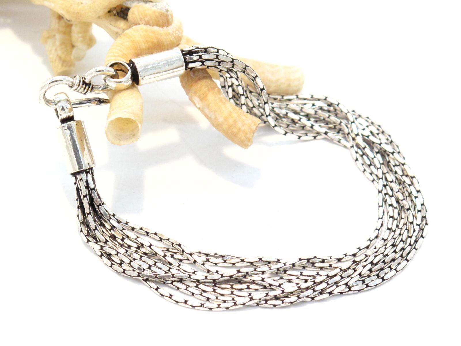 bracciale a più fili in argento india
