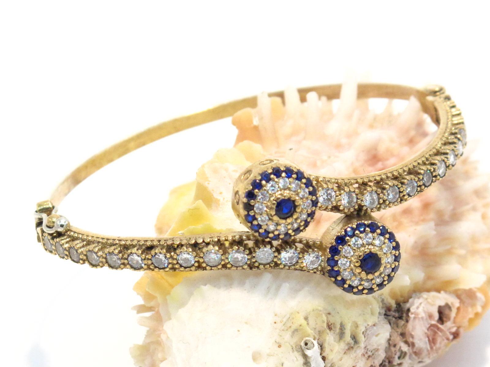 bracciale turco argento bronzo zirconi e paste vitree