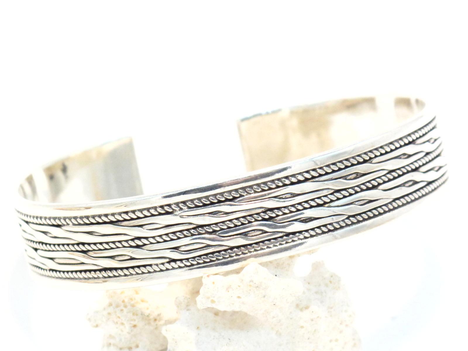 bracciale indiano rigido argento