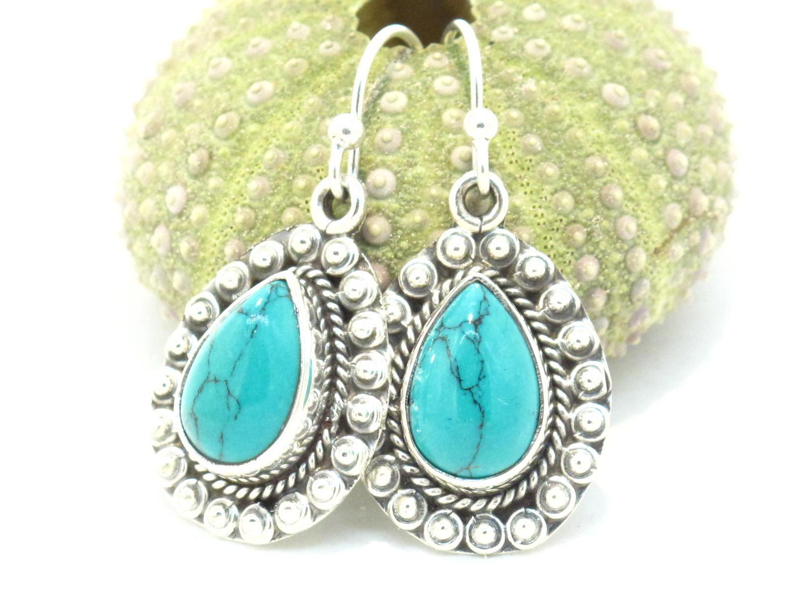 orecchini in argento e turchese