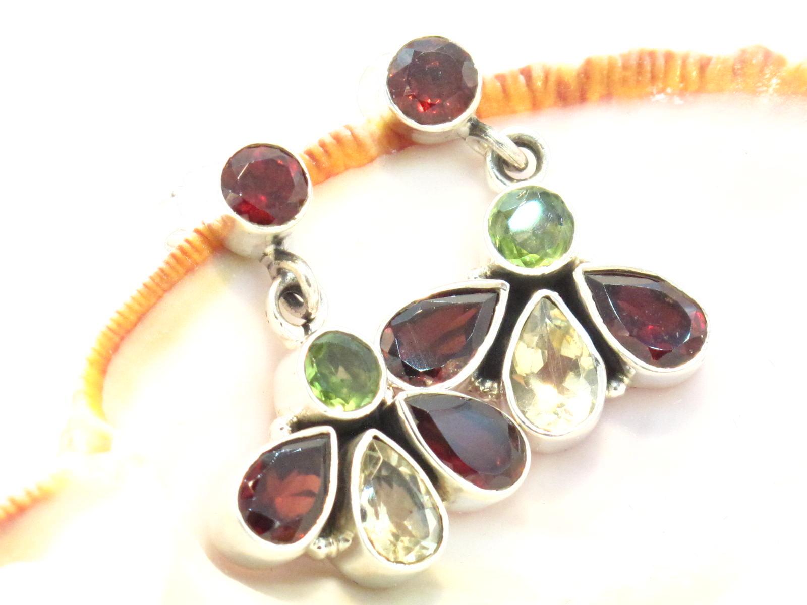 orecchini in argento e pietre multicolor