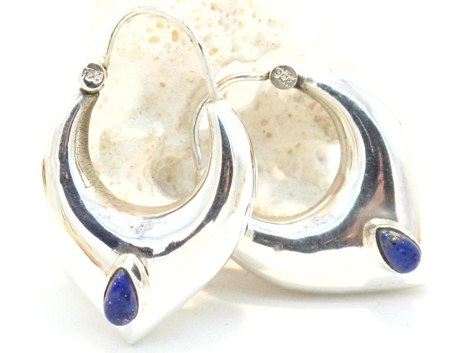 orecchini argento e lapislazzuli