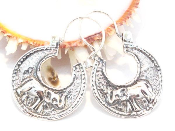 orecchini elefanti argento