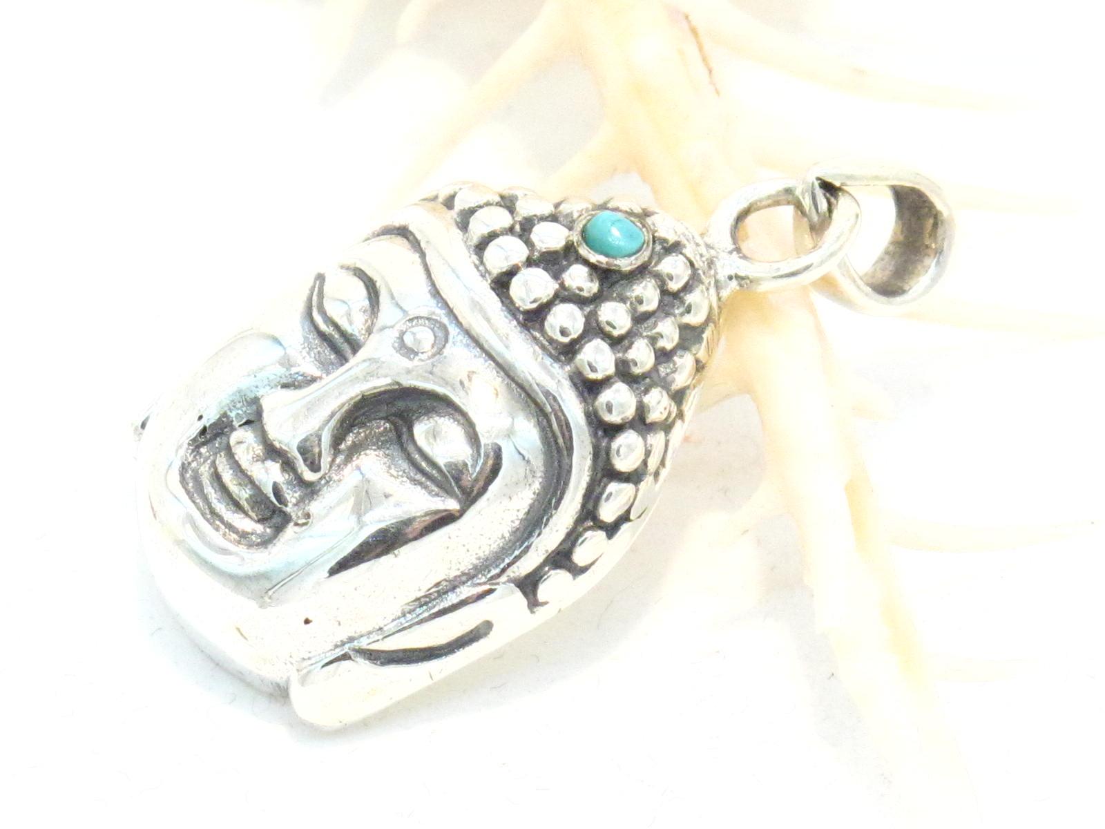 pendente in argento e turchese Buddha