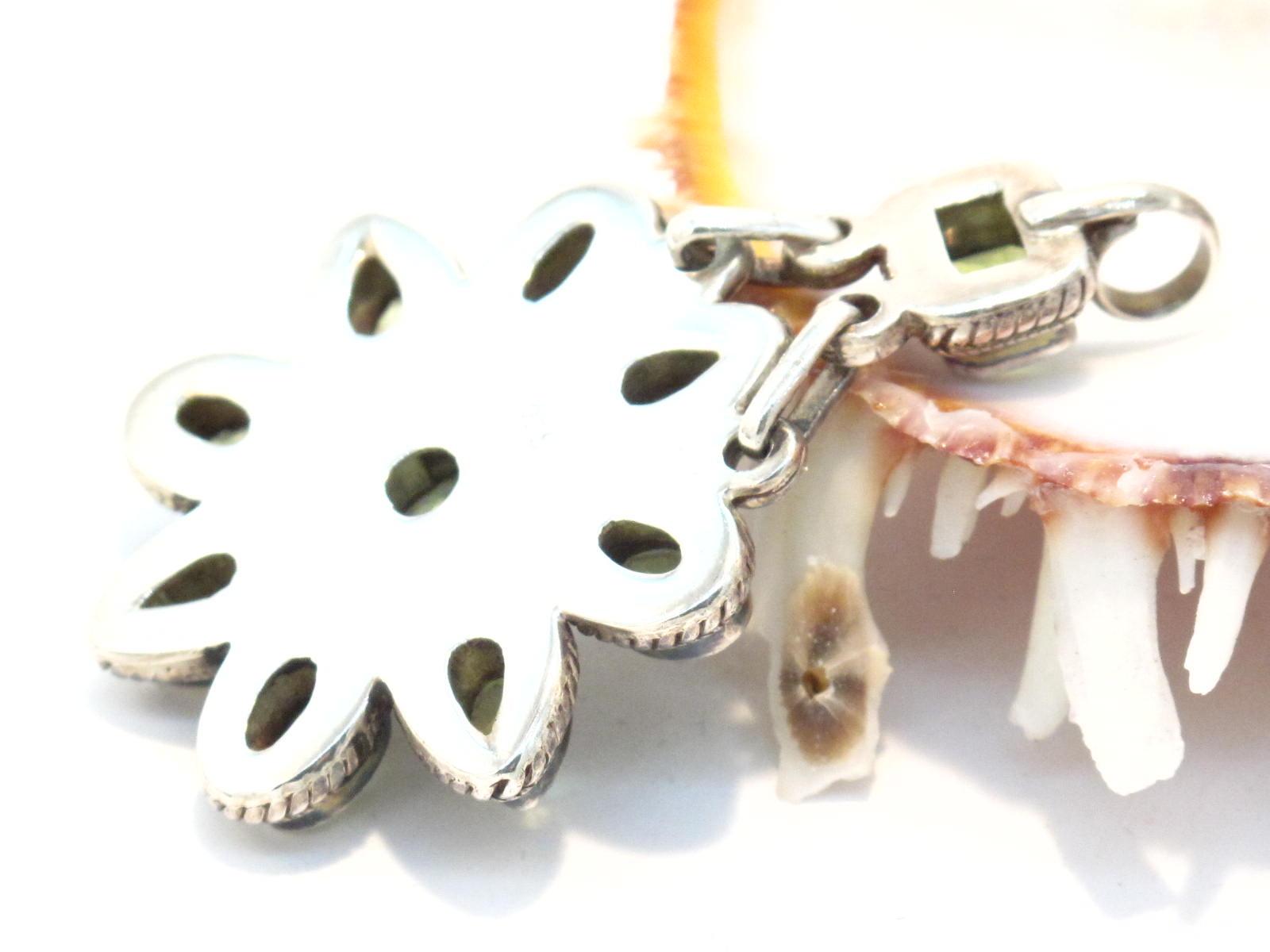 pendente in argento e peridoto