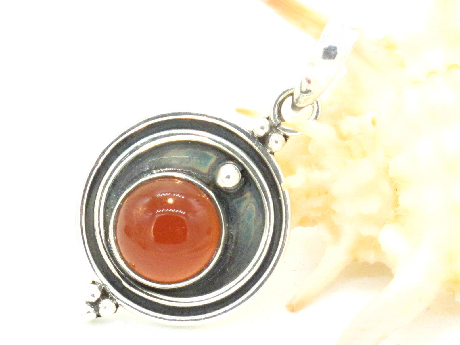 pendente in argento e corniola