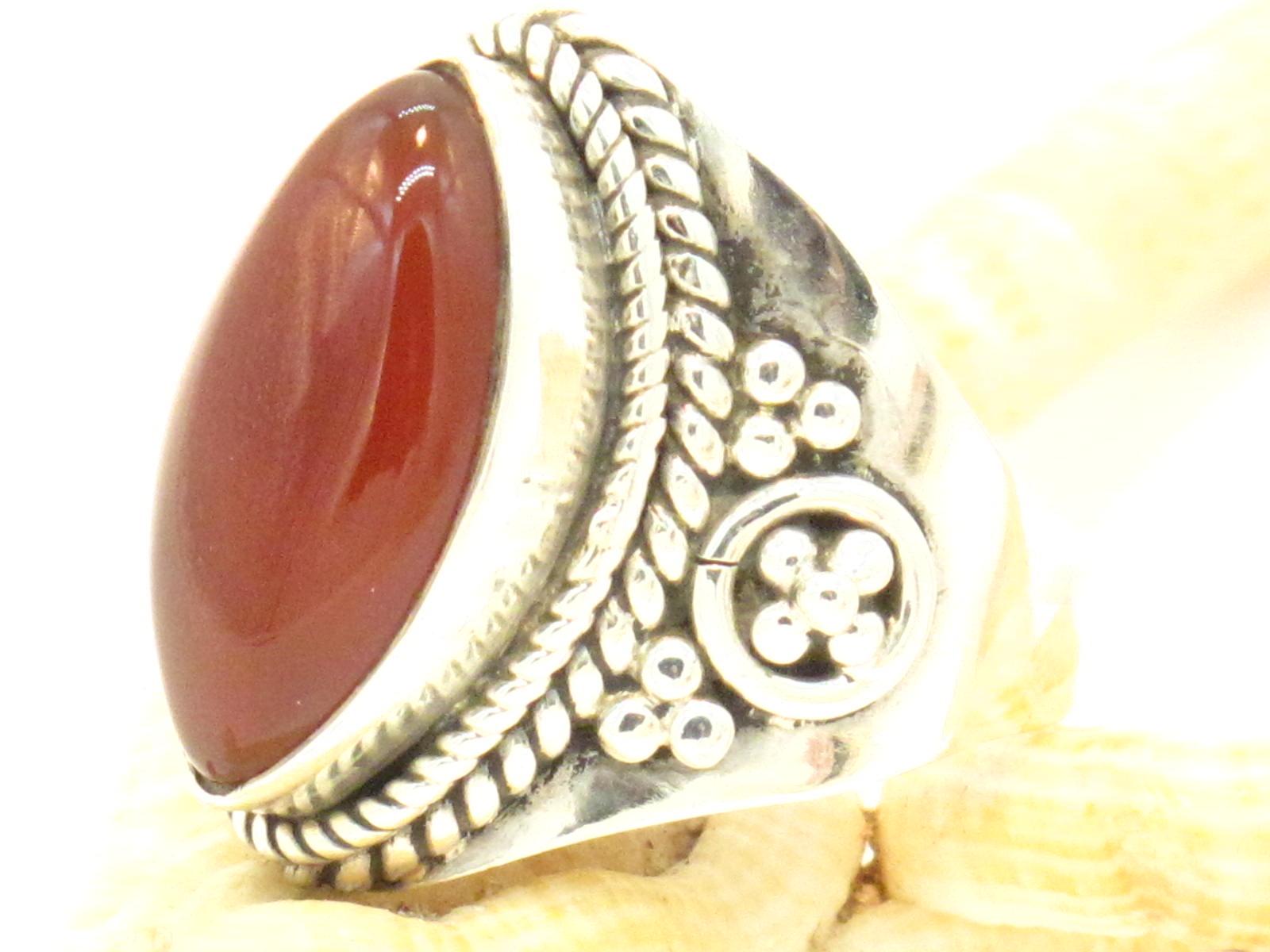 anello argento corniola