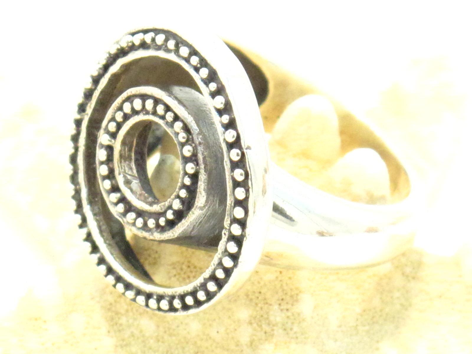 anello spirale argento