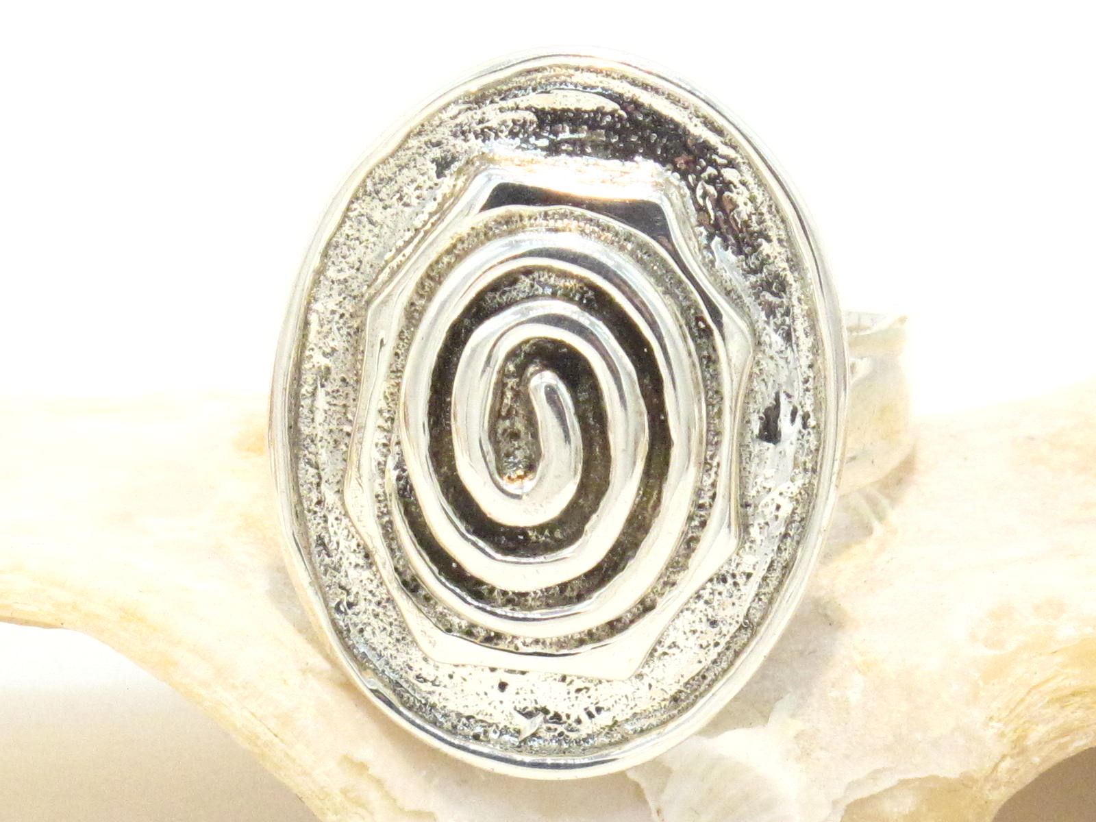 anello argento spirale