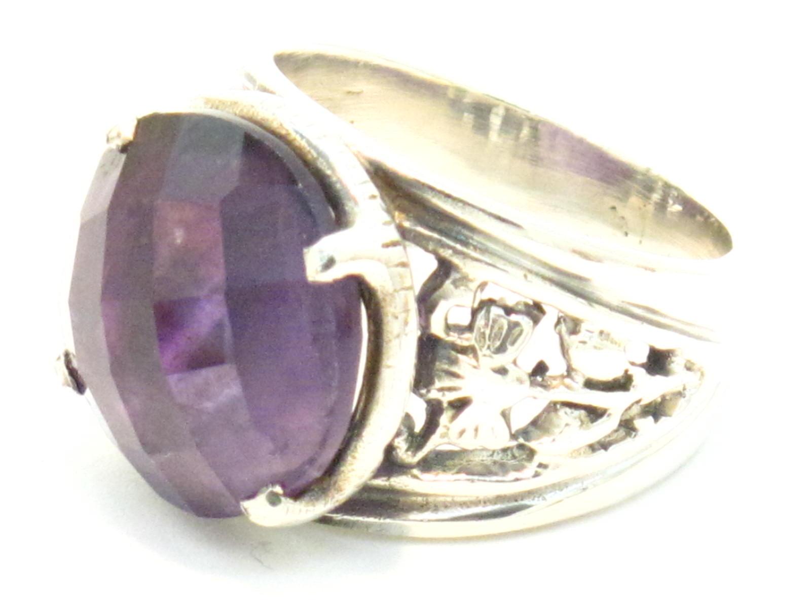 anello argento e ametista