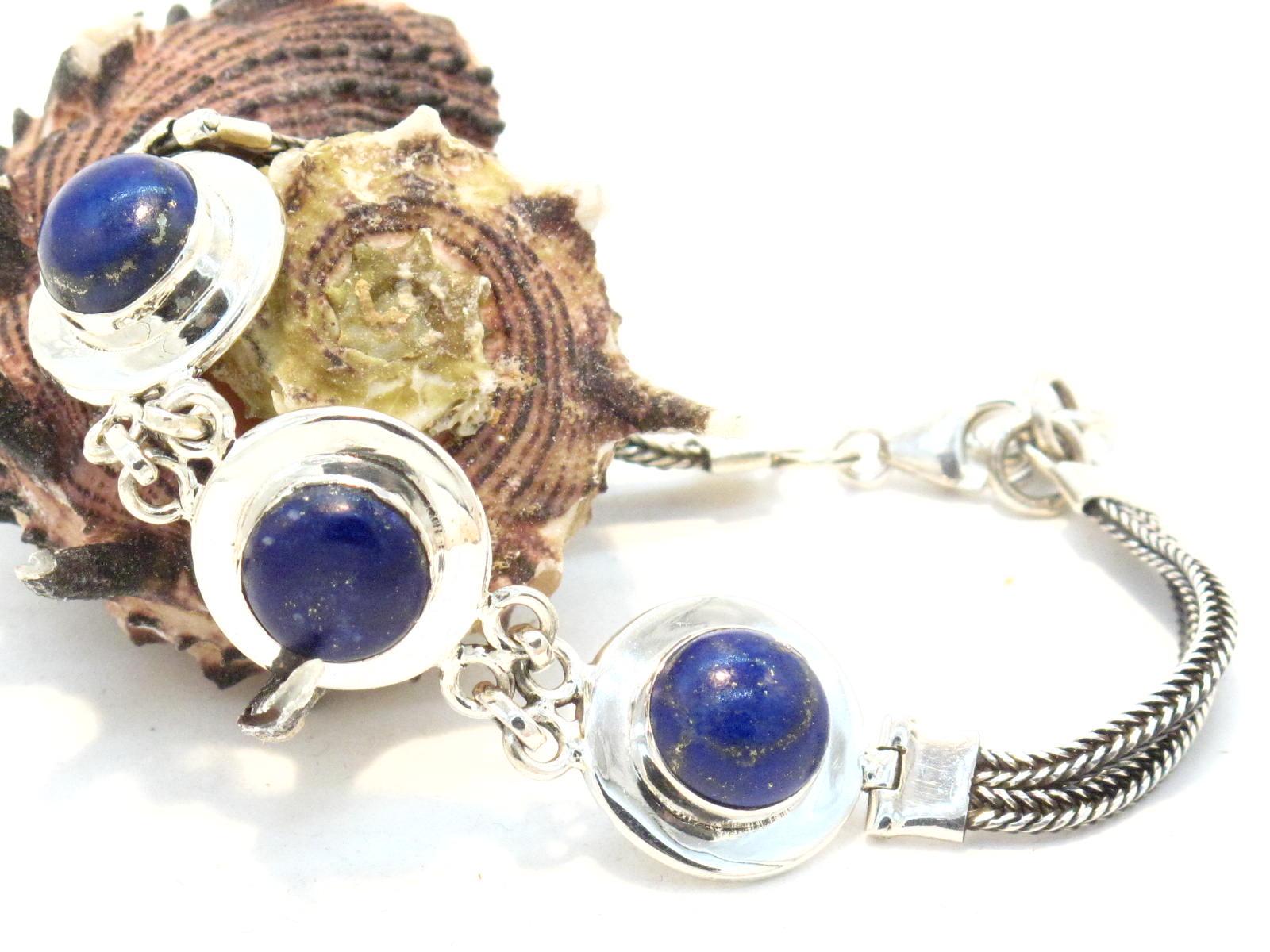 bracciale in argento e lapislazzuli