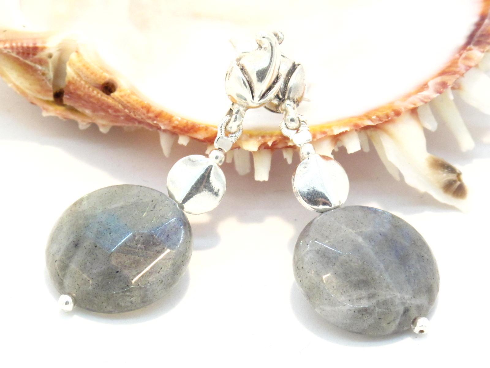 orecchini in argento e labradorite