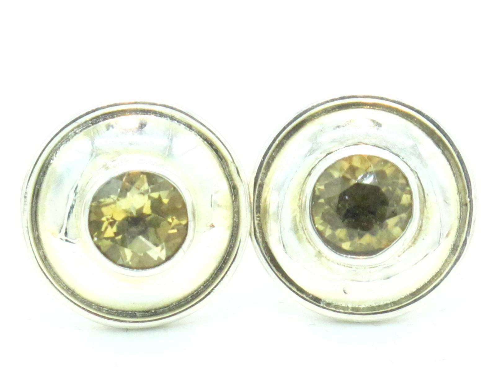 orecchini nepalesi in argento e quarzo citrino