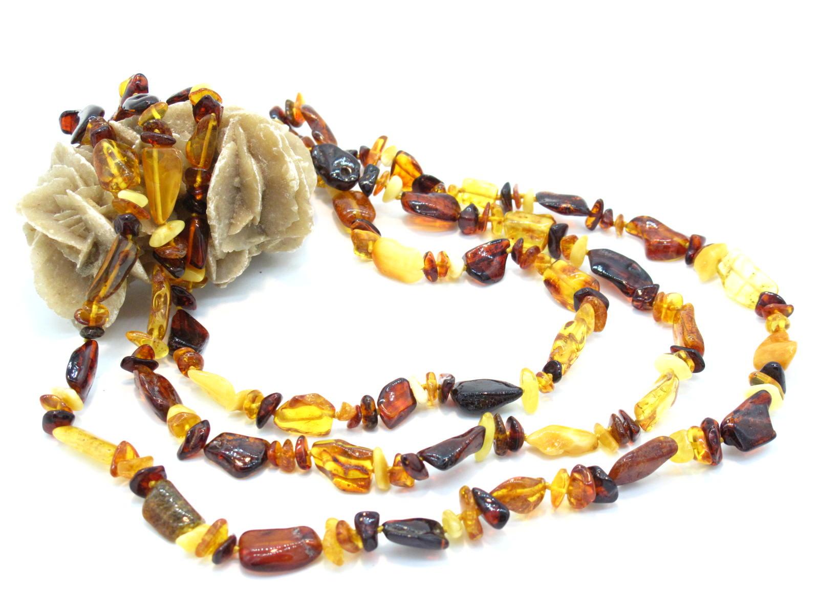 collana etnica in ambra